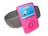 View Item Pink Silicone Skin Case Cover &amp; Sports Armband for SanDisk Sansa Fuze 2gb, 4gb &amp; 8gb + FREE Belt Clip &amp; Lanyard
